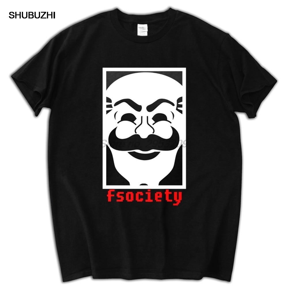 Novo sr. robô anônimo máscara fsociety equipe hacker evil corp série de tv marca t-shirts homem topo