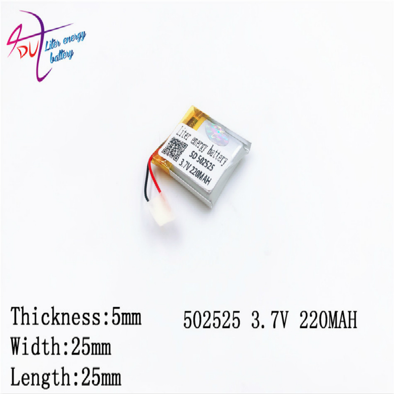 <font><b>502525</b></font> 482525 3.7V polymer lithium battery MP3 MP4 MP5 GPS 220MAH Liter energy battery Bluetooth small toys image