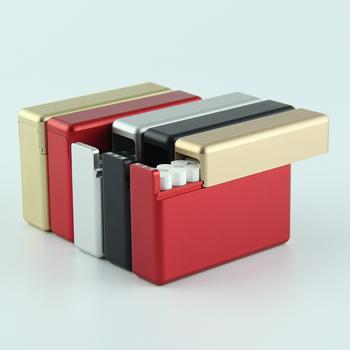 Wysokiej klasy elektroniczny papieros przypadku 18 kije metalowe przechowywanie papierosów pudełko dla IQOS 2 4 Plus 3 0 3 DUO lil E-akcesoria do papierosów tanie i dobre opinie SZDBJS Aluminium for iqos Smoke bomb Ciężka torba cigarette case for iqos Decorative Protection Band Cover Bag Black silver red gold red gold