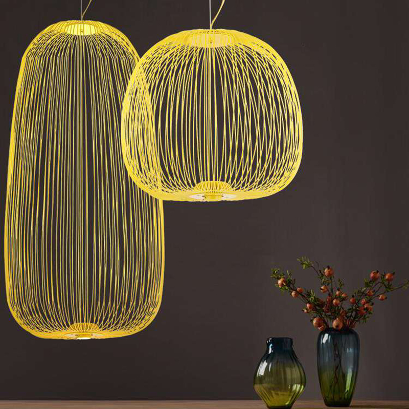Foscarini Raggi 1/2 lampade a Sospensione Moderna LED Hanglamp LOFT Industriale Gabbia di Uccello lustre Sospensione Apparecchi di Sala da pranzo Decor - 3