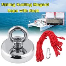 20 м рыболовная Магнитная веревка с крюком для Неодимового восстановления спасательный магнит подвесной
