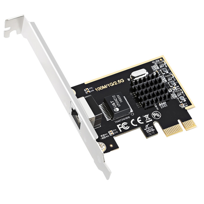 2.5G Network Adapter PCIe1X 2.5G Lan Card With Realtek8125 Network Game Network Card 2500M Network Adapter