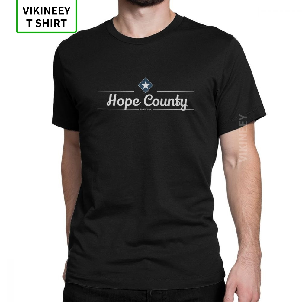 Hope County T-Shirt MT Far Cry Game John Seed Hope County Cross T Shirts Men Printing Clothes Vintage O Neck 100% Cotton Tee image