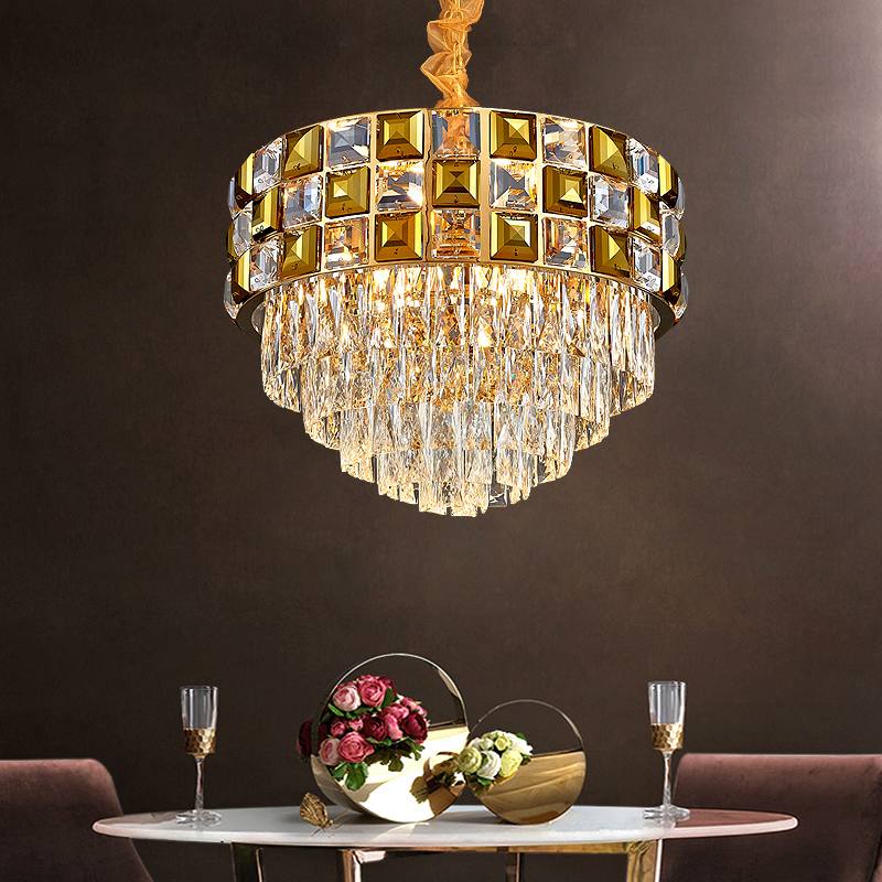 Simple Post-modern Light Luxury Crystal Chandelier Port-style Creative Personality New Living Room Dining Room Lighting