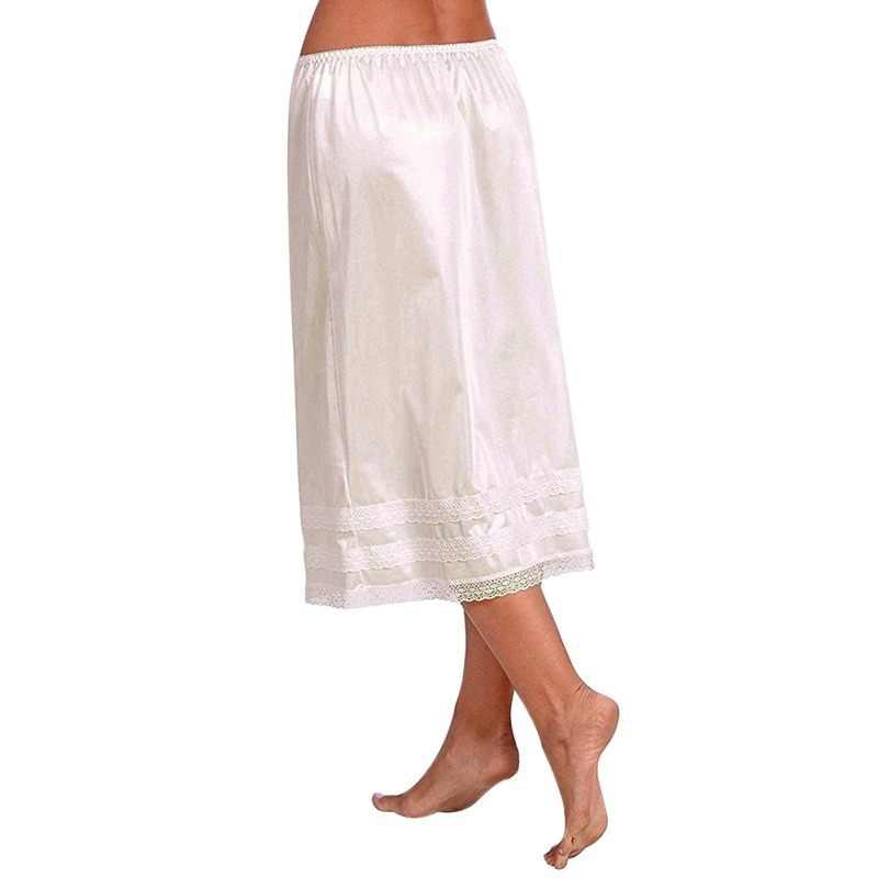 女性ペチコートアンダー固体スカートポリエステルセクシーなレース裾スリップスカート夏カジュアルビーチミニスカート