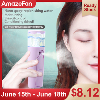 Face Spray Nano Mister Facial Steamer Cold Air Hydrating Humidifier Instrument USB Charged Facial Beauty Hydrating Skin Care Too 2019 drop shpping abs white humidifier water replenishing instrument nebulizer mini fashion facial beauty skin care hydrating