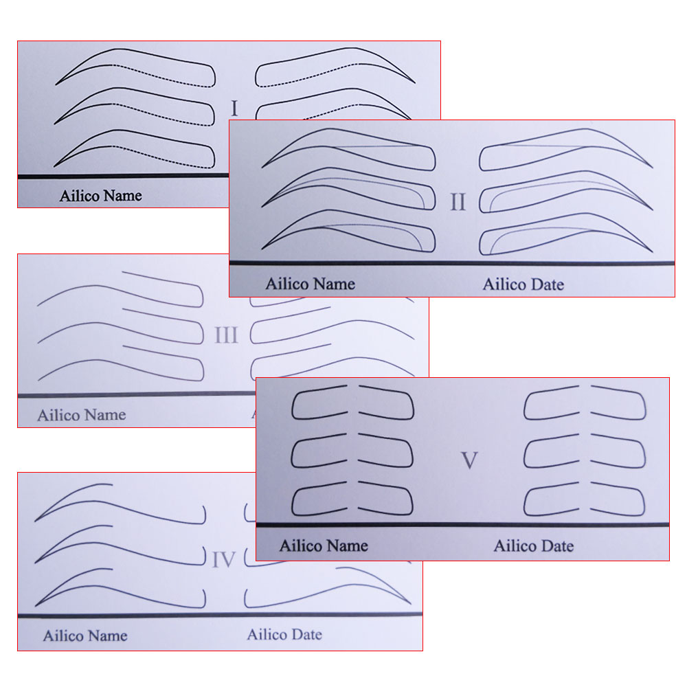 Microblading Practice Tool For Beginners Permanent Makeup Supplies Eyebrow Stencils Different Shapes Eyebrow Mold Drawing Paper