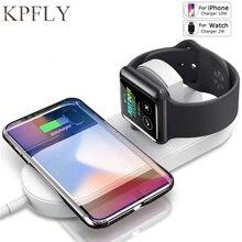 Kablosuz şarj için Samsung S10 not 10 artı S10 şarj istasyonu kablosuz şarj Apple Watch iWatch için 2 3 10W Qi şarj cihazı