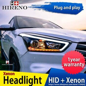 Car headlight Headlights for Hyundai Creta 2015 LED Headlight for IX25 Head Lamp LED Daytime Running Light LED DRL Bi-Xenon HID
