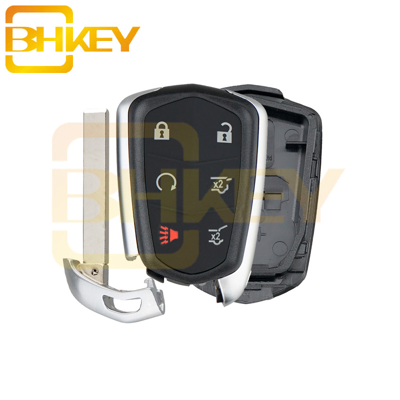 BHKEY For Cadillac Escalade ESV 2015 2016 2017 2018 6Buttons  Smart Remote Key Shell Case Fob|Car Key| |  - title=