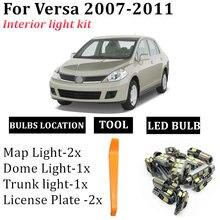 7x Автомобильный светодиодный Интерьер Карта Купол светильник