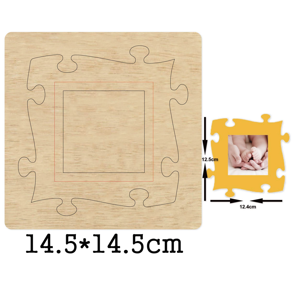 Hollow Puzzle Photo Frame Cutting Dies 2020 New Die Cut &Wooden Dies Suitable for Common Die Cutting Machines on the Market