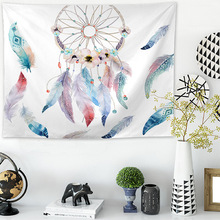Jayi  Bohemian Style Dreamcatcher Feather Pattern Tapestry Wall Hanging Room Home Decoration 129GT boho style pattern tapestry