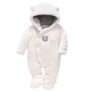 Осенне зимние детские комбинезоны с медведем для новорожденных из искусственной овечьей шерсти; флисовые толстовки; комбинезон; ползунки;