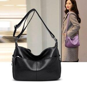 Image 4 - Winter Stil Weichen Leder Luxus Handtaschen Frauen Taschen Designer Doppel Tasche Frauen Taschen für Frauen 2020 Geldbörsen und Handtaschen Sac