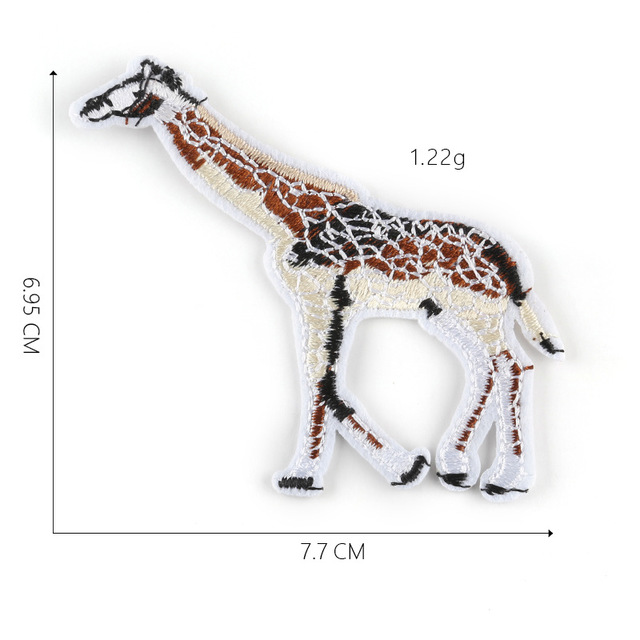 Animal Giraffe Embroidered Iron On Patches For Clothing Sewing Badges Supplier