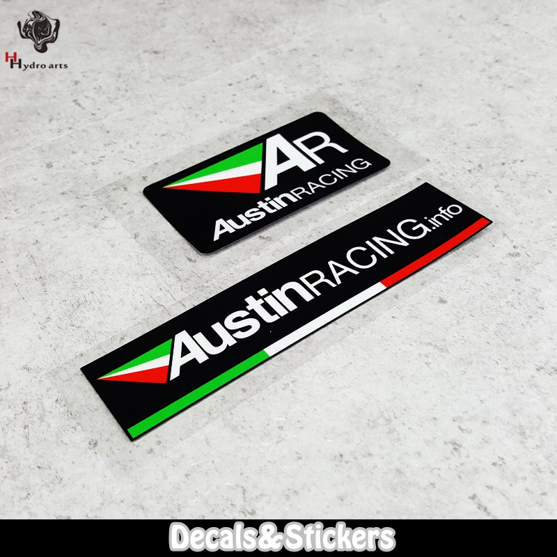 NO.L054 AUSTIN RACING Logo 3M Reflective Stickers MOTO GP Car Windshield Glass Sticker Waterproof Decals Racing Motorcycle