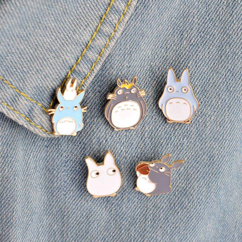 Милые нагрудные булавки Тоторо маленькая девочка Мэй и сестра Мультяшные броши значки рюкзак эмаль шпильки ювелирные изделия подарки для фанатов друзей