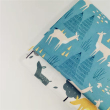 Cute Animal Printed Cotton Twill Fabric Breathable Soft DIY Sewing Patchwork Material For Kid & Child