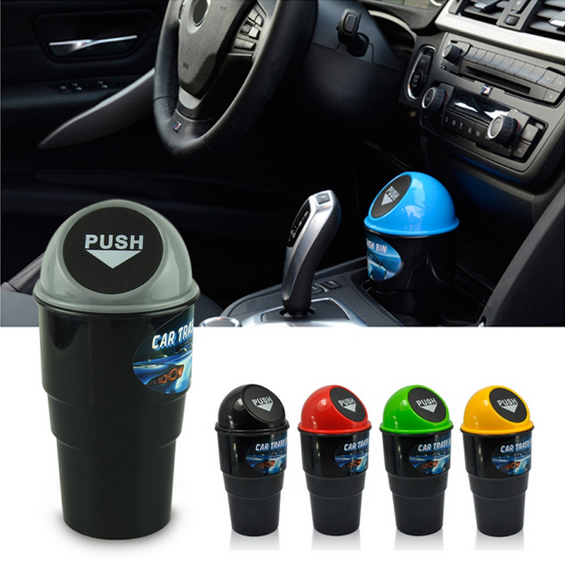 Melhor moda multi-cor criativo carro lata de lixo carro mini lata de lixo multi-purpose balde carro lata de lixo atacado dropshipping csv