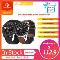 In Stock Amazfit GTR Lite 47mm Smart Watch Global Version 24 Days Battery with 5ATM Waterproof AMOLED Screen For Android IOS