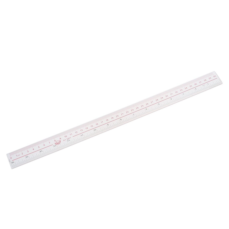 40cm 16 Inches Length Measure Clear Plastic Straight Edge Ruler