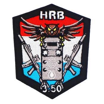 Parche de búho HRB 3,50 con respaldo de hierro, parches de motorista bordados con cráneo militar punk para chaleco trasero y sombrero