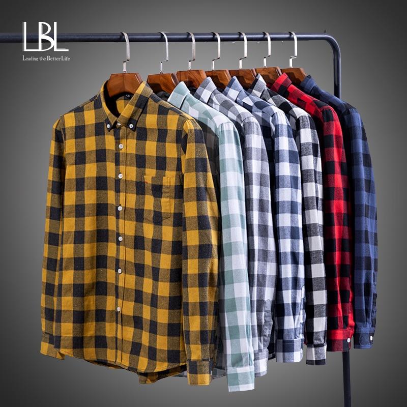 2021ファッションメンズチェック柄シャツシックなチェックブラウス長袖メンズカジュアルプリントシャツトップスblusasストリートシャツ