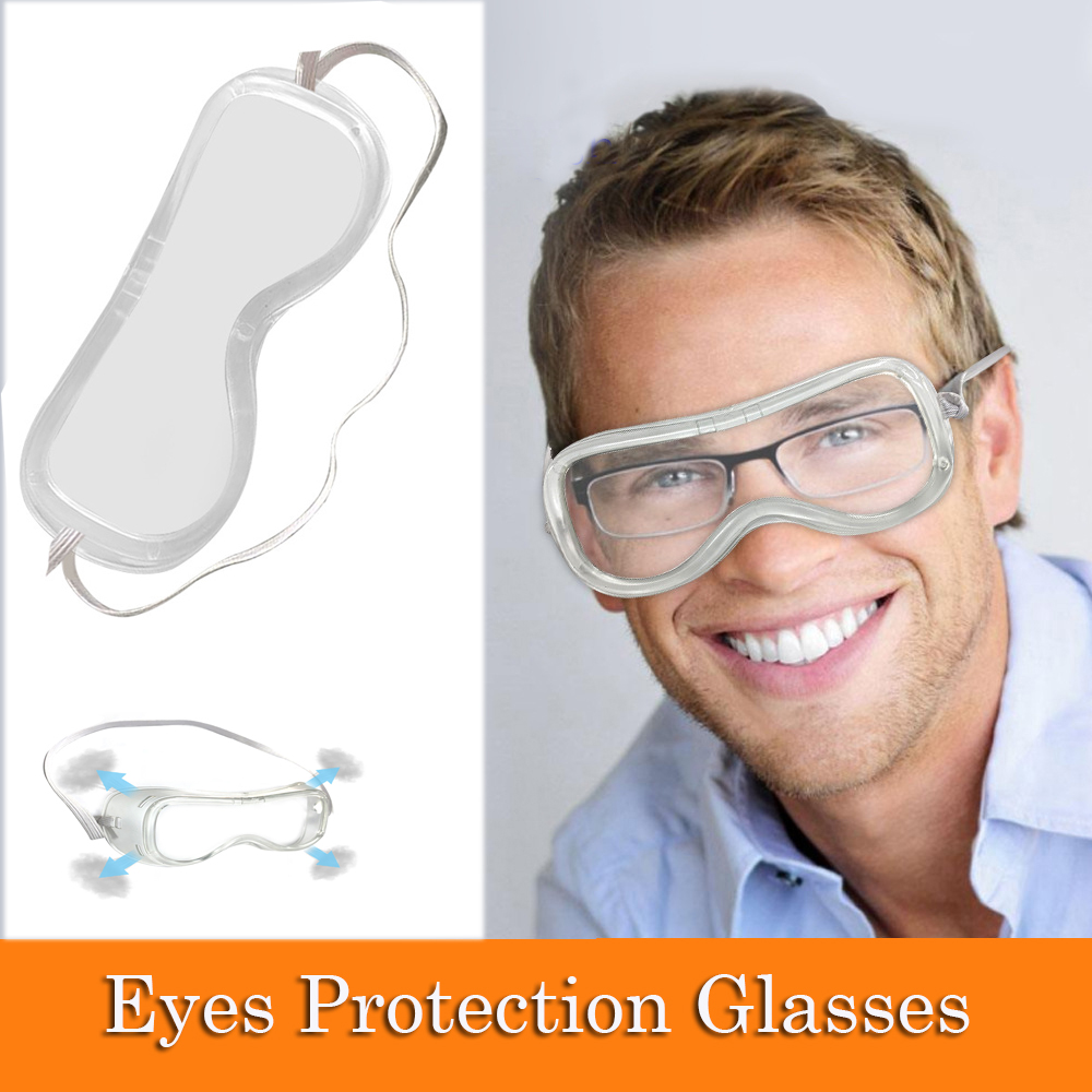 5pcs/set Safety Glasses Anti-Splash Eye Protective Glasses Work Lab Sand Prevention Goggles Security Supplies Safety Goggles D30