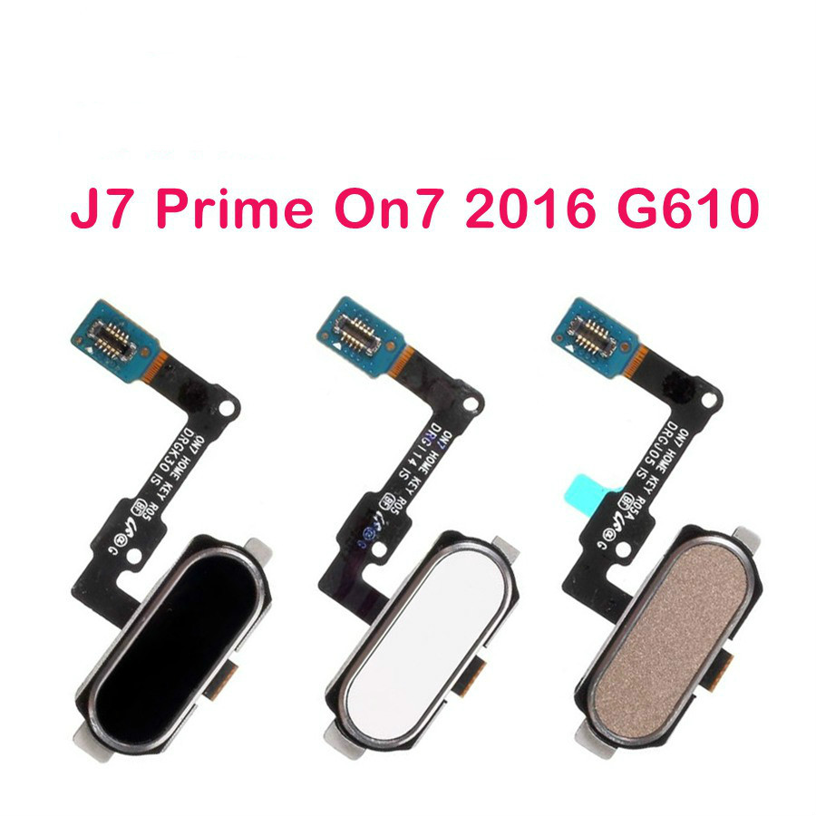 For Samsung Galaxy J7 Prime On7 2016 Home Button J5 Prime On5 2016 G570 G610 Fingerprint Key Return Flex Cable Replacement