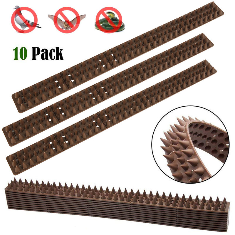 10pcs Plastic Spikes Practical Squirre Birds Pigeons Cat Deterrent Tool For Outdoor Garden Fence Wall Off Harmless To Animal