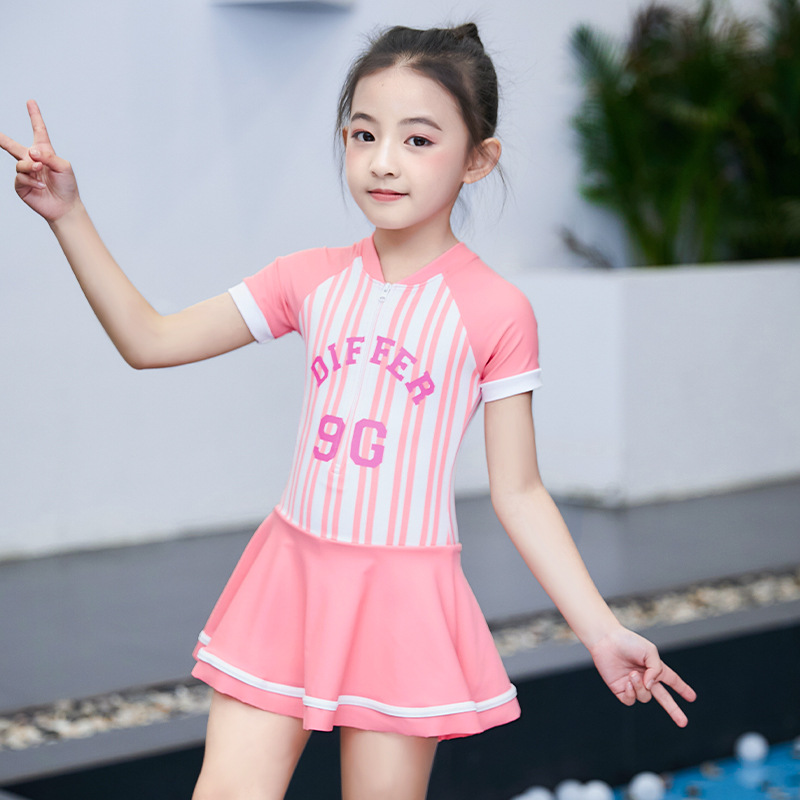 KID'S Swimwear Girls Dress-Big Boy South Korea Cute Princess Baby GIRL'S Sun-resistant Swimming Equipment