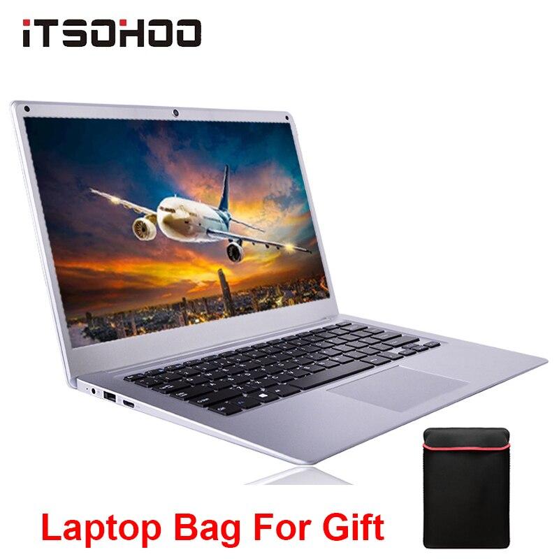 ITSOHOO Netbook New 14.1 Inch Laptop Computer 4GB 64GB Bluetooth Ultrabook Intel Quad Core Mini Notebook Windows 10  Laptops