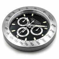 Luxo grande relógio de parede metal relógios luminosos decoração da sua casa grande 3d relógio de parede calendário silencioso orologio da parte presente l037