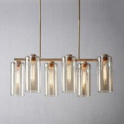 Oprawa suspendu lampen industrieel szklana kulka sypialnia restauracja lampa wisząca oprawa lampa przemysłowa Wiszące lampki Lampy i oświetlenie -