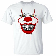 Grinning Clown T-Shirt Mens Top It Halloween Evil Spooky Horror M Xl 2Xl 10Xl Tee Shirt(China)