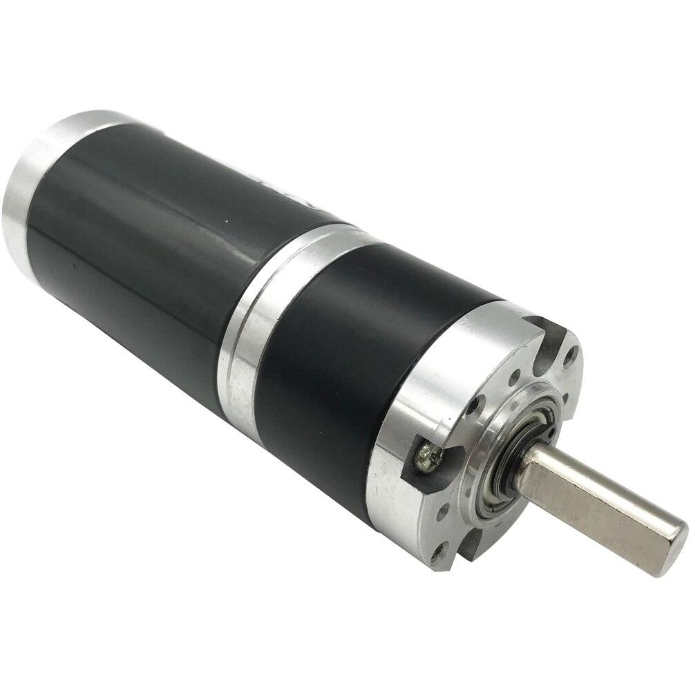 Motorreductor planetario 24V DC planetario de baja velocidad 10-600RPM máximo 48KG de alto Torque Velocidad Ajustable invertida en Motor DC