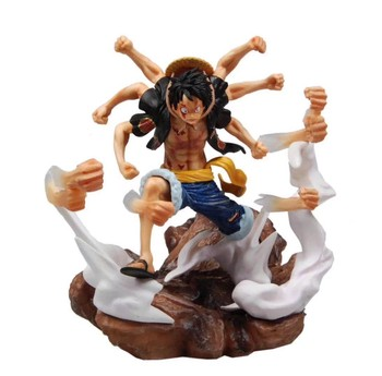 Anime One Piece P.O.P XXL Monkey D Luffy Gomu Gomu No Gatling Ver. PVC One Piece Luffy Action Figure Collectible Model Toy 2