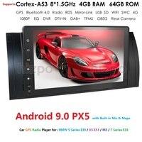 IPS DSP Android 9.0 4GB 64GB Car NODVD PLAYER For BMW X5 E53 E39 GPS stereo audio navigation multimedia screen head unit usb dvr