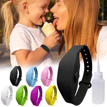 1-7Pcs Sanitizer Bracelet Pumps Disinfectant Sanitizer Dispenser Bracelet Wristband Hand Sanitizer Dispensing Silicone Bracelet