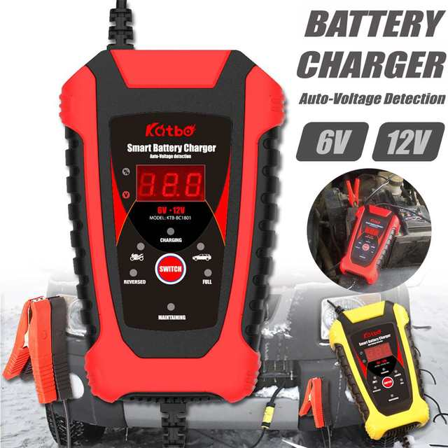 6V/12V 2A Full Automatic Battery-chargers Digital LCD Display Car Battery Chargers Power Puls Repair Chargers Wet Dry Lead Acid
