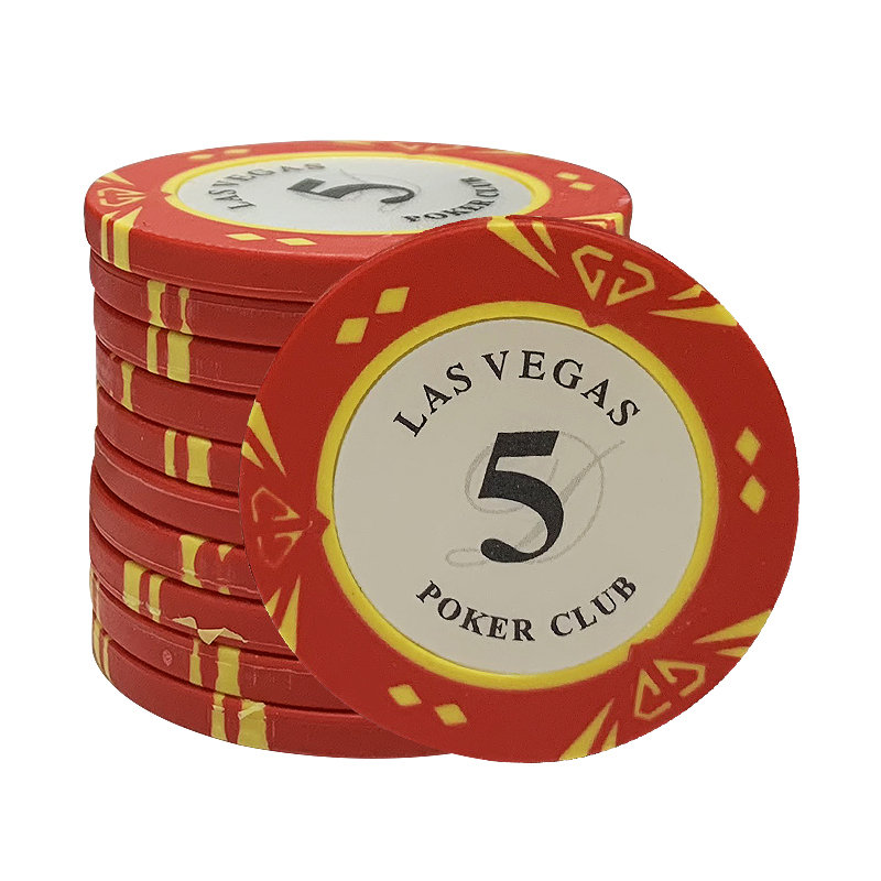 100PCS/SET Las Vegas poker chips Casino Baccarat Diamond pokers Design Clay Poker Chip Inner Metal with Trim Sticker <font><b>LasVegas</b></font> image