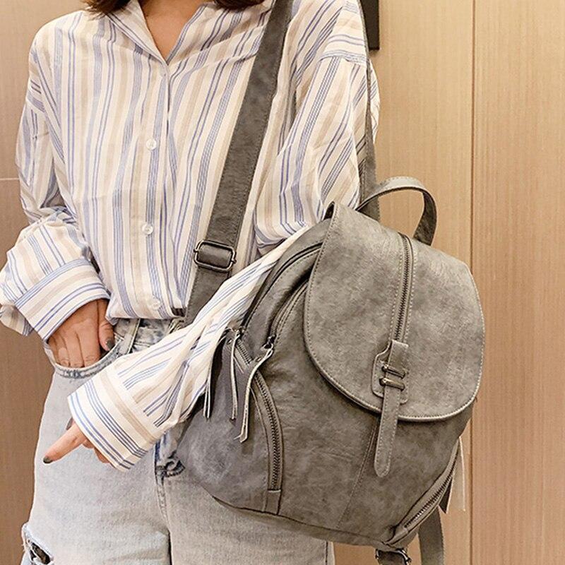 Fashion Women Backpack Designer High Quality Leather Shoulder Bag Large School Bag For Teenagers Girls Vintage Travel Backpacks