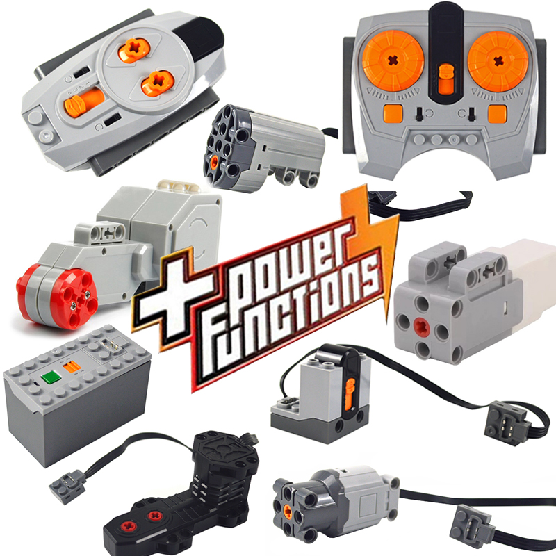 Technic Parts Compatible For Legoeds Multi Power Functions Tool Servo Blocks Train Electric Motor PF Model Sets Building Kits