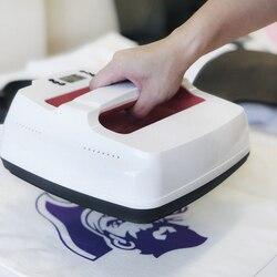 Мини-Футболка термопресс машина высокого давления ЖК-контроллер 23,5x23,5 см нагревательная пластина портативный инструмент для печати одежды