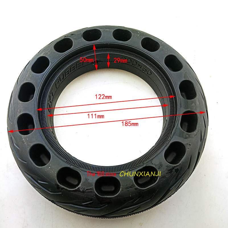 Size 200x50 Explosion-proof Electric Bike Scooter tyres 8 inch Motorcycle Solid <font><b>Tires</b></font> Bee Hive Holes Lightning shipment image