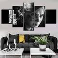 5 шт. HD черно-белые настенные художественные картины Ellie последняя из нас часть 2 игровой постер художественное оформление парусиновые карти...