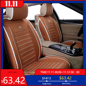 Image 1 - High quality flax car seat covers fit kia Rio 3 4 2017 2018 Sorento 2005 2007 2011 2013 2016 2017 soul spectra car styling