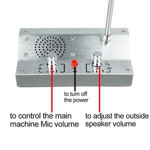 Image 5 - Система внутренней связи для дома, английская версия, двусторонняя связь для банка, билета, офиса, больничного окна, система внутренней связи PA