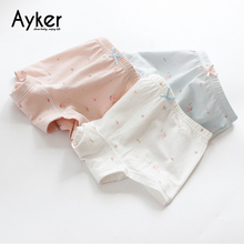 3pcs/lot Baby Girl Briefs  Soft Cotton Panties Boxers Girls Underwear Cute Pink Princess Kids Underpants Clothes